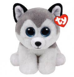 An adorable husky beanie toy. Soft to touch and perfect for little hands to enjoy.