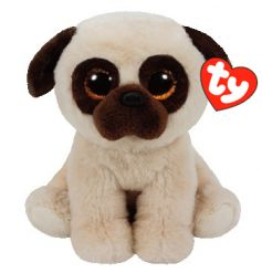 An adorable pug soft toy from the popular Beanie TY range.