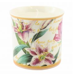 A pretty floral candle pot with a beautifully scented candle from the popular Flower Garden range.
