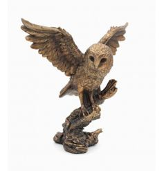A stunning barn owl ornament from the popular Bronzed Reflections range.