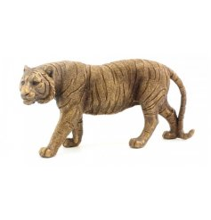 A fine quality tiger figure in bronze. From the popular Bronzed Reflections range.