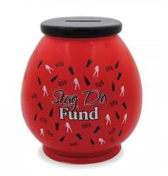Save up for that all important stag do with this fun money box!