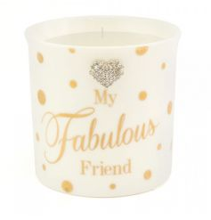This fabulous friend candle pot makes a great gift item for many occasions. A stylish home fragrance with gift box.
