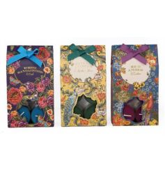 A mix of 3 coloured t-lights with beautiful botanical packaging.