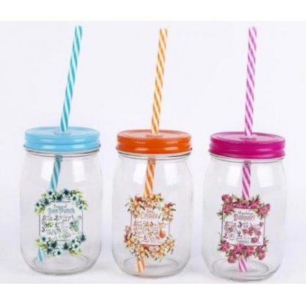 Tropical Cocktail Drinking Jars, 3a