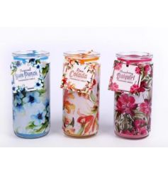 An assortment of 3 tropical scented candles in tubes. Ideal for re-using!