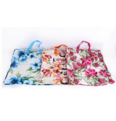 A mix of 3 colourful tropical shopping bags. Stylish and practical shopping bags.