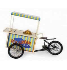 A vintage inspired ice-cream cart with tricycle. A fantastic money box model for the home.