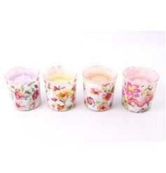 A colourful assortment of sweetly scented candle pots