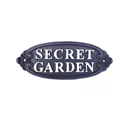 GSS031 / Iron Secret Garden Sign | 32473 | Signs & Plaques / Family