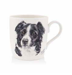 An illustrated border collie mug. A great gift item for any dog lover.
