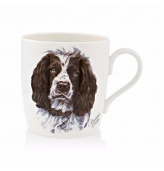 A stunning Springer Spaniel illustrated mug. A great gift item.