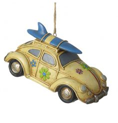 A bright and colourful surfers car decoration. A great seasonal gift item with plenty of coastal charm.