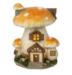 This enchanting solar powered mushroom decoration will make a charming addition to any garden.
