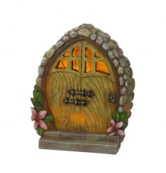 An enchanting solar powered fairy door ornament. A magical item for the garden for the whole family to enjoy.