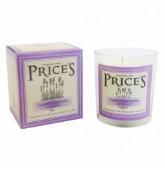 A beautifully packaged heritage lavender candle jar. From Prices heritage range.