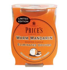 Eliminate odours with this beautifully scented mandarin and ginger scented candle. A limited edition item from Prices