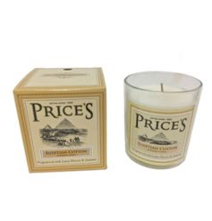 A fresh and classic Egyptian cotton candle set within a glass jar. From Prices Heritage fragrance range.