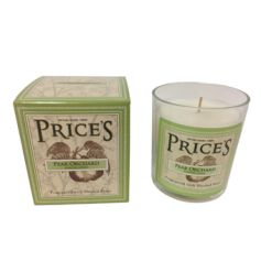 A fine quality scented candle with gift box. A pear orchard fragrance from Prices Heritage range.