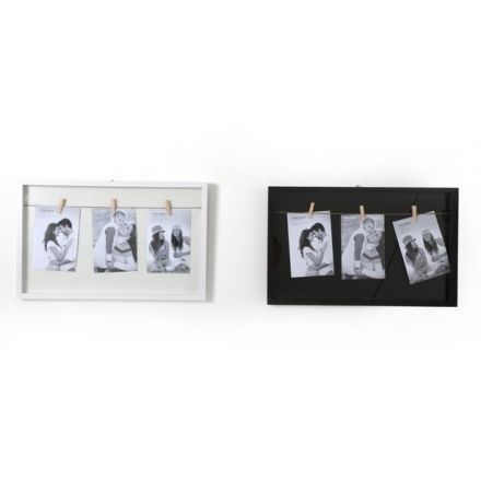PH1939 / Black/White Hanging Peg Frame, 4 x 6 | 32620 | Photo Frames ...
