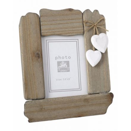 Wooden Frame W/Hearts