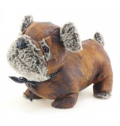 An adorable pug doorstop made from faux leather and fur. A must have this season!