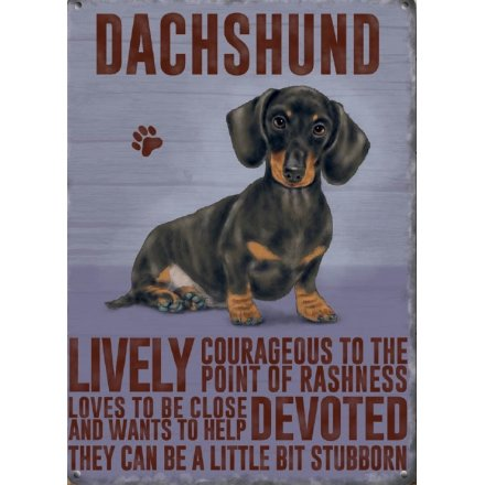 Metal Dog Sign - Dachshund