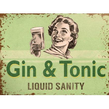 Gin & Tonic Liquid Sanity Metal Sign