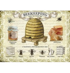 Vintage styled Bee Keeping metal sign