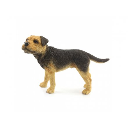 Border Terrier Dog Figurine Standing
