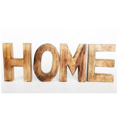 A rustic style natural 3D HOME sign. A great interior accessory.