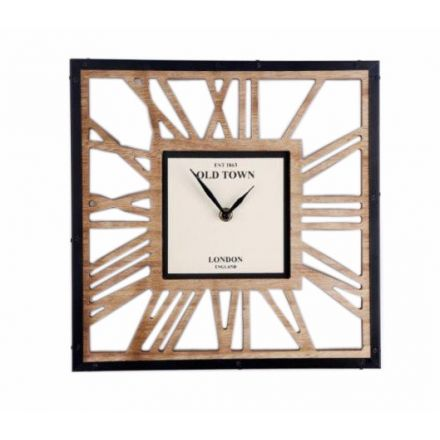 Cut Out Wooden Clock 30cm