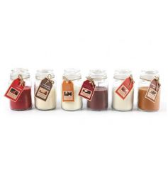 Richly coloured and beautifully scented candle jars. A great gift item and home fragrance.