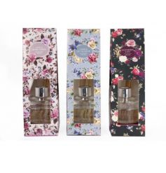 Beautifully scented reed diffusers packaged in antique floral boxes. A lovely gift item and home fragrance.