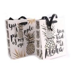 An assortment of 2 small gift bags in a tropical designs with matching gift bags.
