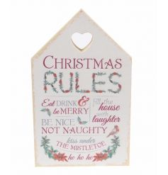 Eat, drink and be merry. Display this traditional style house plaque in the home this season.