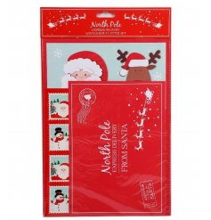 Bring the magic of Christmas to life with this express delivery Santa reply letter set.
