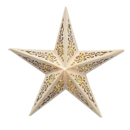 Gtg041 Wooden 3d Star 32861 Christmas Display And Light Up