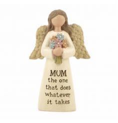Mum. The one that does whatever it takes. This angel ornament makes a charming keepsake gift.