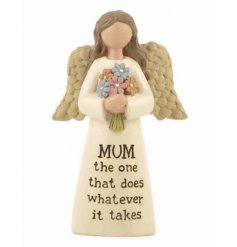 This angel ornament with Mum sentiment makes for a lovely keepsake item. A great gift.
