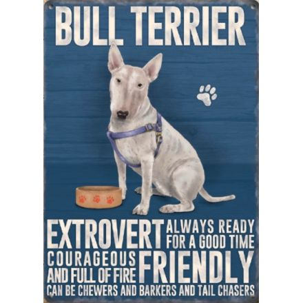 Mini Metal Sign - English Bull Terrier