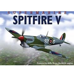 A large metal sign with a spitfire Supermarine Merlin design.