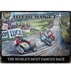 A large motorbike races sign with a painterly effect. A great gift item for sports and motorbike enthusiasts.
