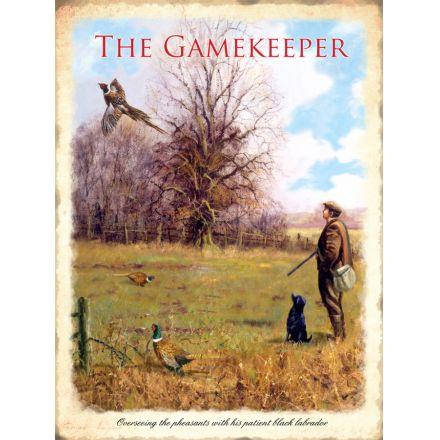 Gamekeeper Metal Sign XL, 40cm
