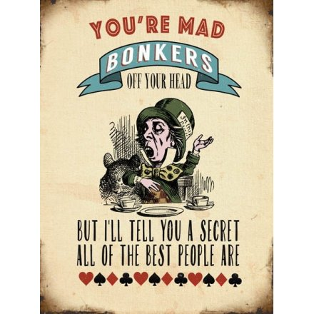 Mad Bonkers Large Metal XL Sign, 40cm
