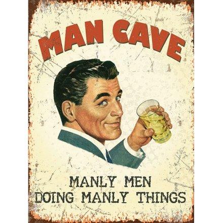 Man Cave Metal XL Sign, 40cm