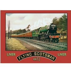 A fine quality large metal sign with the impressive flying scotsman train.