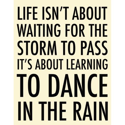 Dance In The Rain Extra Large Metal Sign 40cm