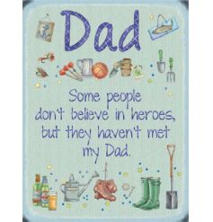 Kind worded large metal sign, perfect for that perfect dad