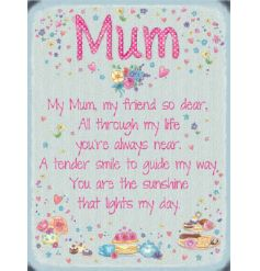 Kind worded mini metal sign, perfect for that perfect mum
